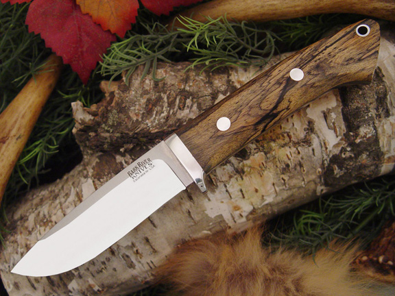Нож Bark River Drop Point Hunter Black&White Ebony