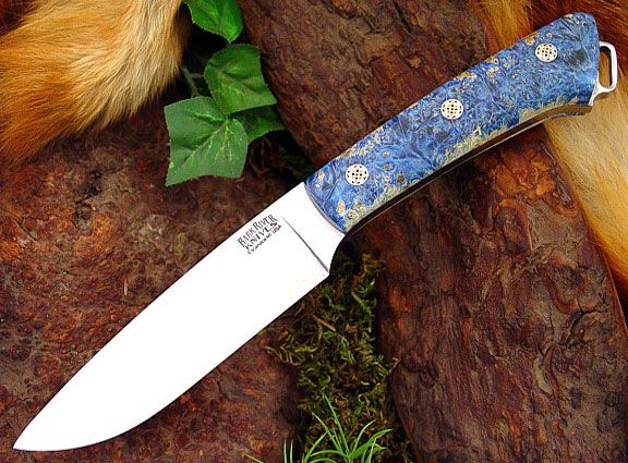 Bark River Fox River Blue & Gold Elder Burl