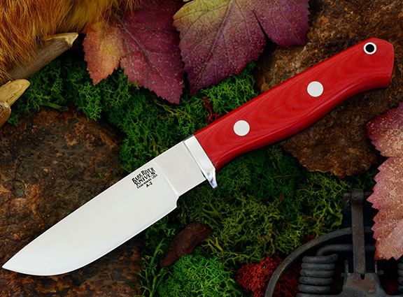 Нож Bark River Gameskeeper Red Linen Micarta