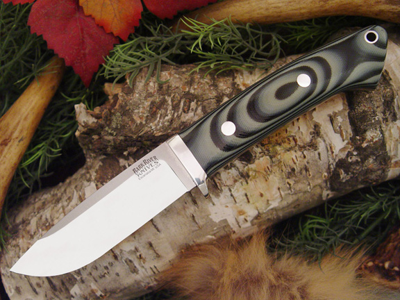 Bark River Drop Point Hunter Midnite Tiger G-10