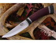Bark River Scandi Maroon Linen Micarta Black Paper Spacer